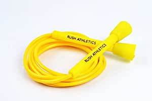 RUSH ATHLETICS Speed Rope Yellow - Best for Boxing MMA Cardio Fitness Training - Speed - Adjustable 10ft Jump Rope Sold