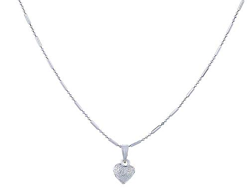 Tazs – Trendy Amazing Zeal Store Silver Solid Silver and Chain With Pendant for Women's & Girl's