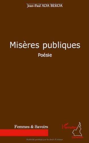Amazoncom Miseres Publiques Poesie French Edition Ebook