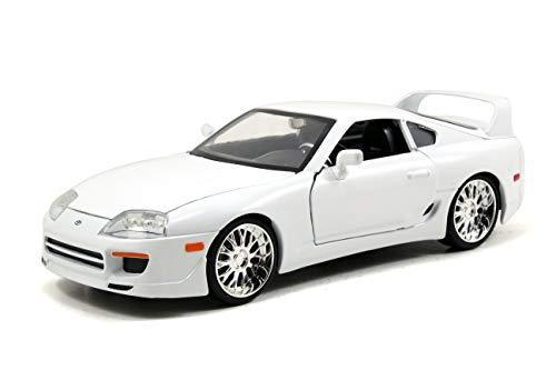 Jada Toys Fast & Furious Brian's Toyota Supra DIE-CAST Car, 1: 24 Scale White ()