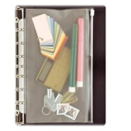 Day-Timer Vinyl Zip Pouch, Desk Size, 5.5 x 8.5 Inches, Clear (D87219B)