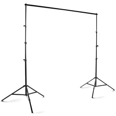 Lumenex Studio Heavy Duty 10' x 8.5' Background Stand Backdrop Support System Kit + 10' X 20' 100% Cotton Green Chroma Key Muslin Backdrop + 10' x 20' 100% Cotton White Muslin Backdrop + 10' x 20' 100% Cotton Black Muslin Backdrop Background Photo Portrai by Photo Studio Portrait 100% Cotton 10x20' Black Muslin Backdrop Background Muslin