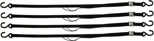 """72"""" Black Motorcycle & ATV Cam Buckle Tie-down strap set"""