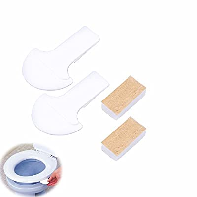 Toilet Cover Lifter, WCIC 2-Pack Handle Avoid Touching Raise Lower Toilet Seat Lid White