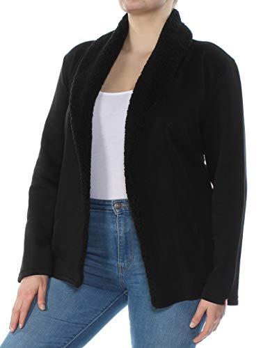 Tommy Hilfiger $79 Womens New 1077 Black Long Sleeve Open Cardigan XXL B+B