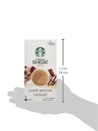 Starbucks VIA Latte - Caffe Mocha (5 Single Serve Packets) (Pack of 3)