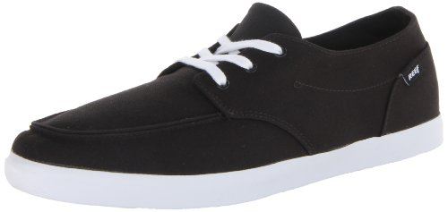 Reef Men's Deck Hand 2 Fashion Sneaker, Black/White/Red, 8 M US