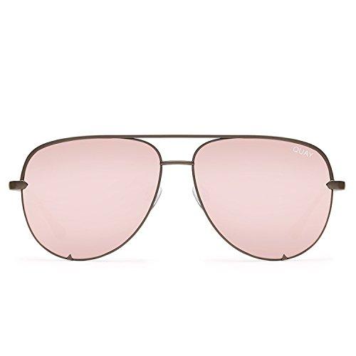 Quay Australia HIGH KEY Women's Sunglasses Classic Oversized Aviator - - Sunglasses The Of Parts