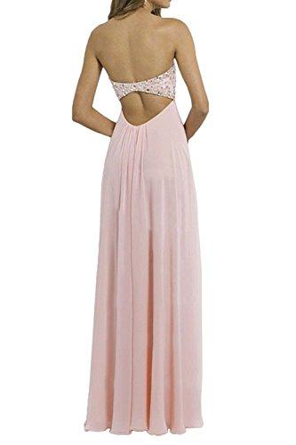 Chiffon Abendkleider Festlichkleider Herzausschnitt Lang Braut aus Ballkleider La Damen Marie Rosa qwz7C