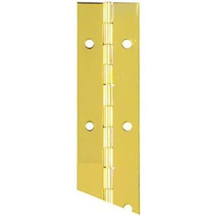 National Hardware N265-363 V570 Continuous Hinge in Brass