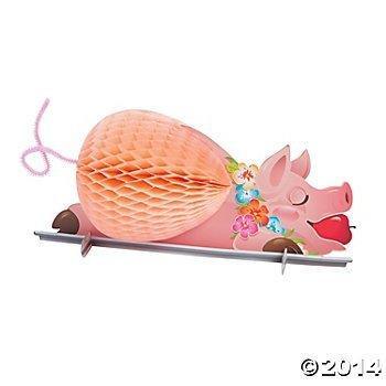 Luau Pig Tissue Centerpiece (Luau Pig Centerpiece)