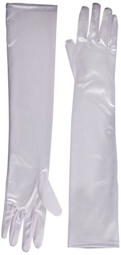 Jacobson Hat Company Women's Adult 18 Inch Long Nylon Glove, White, One Size