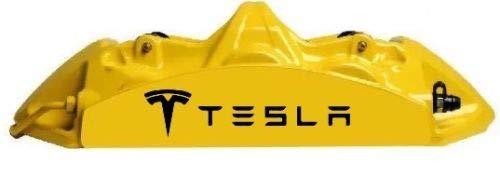 - Set of 6 Tesla Vinyl Hi Temp Brake Caliper Decal Sticker Pack