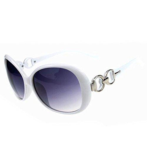 (Fashion?Life Women Shades Oversized Eyewear Classic Designer Sunglasses UV400-White&Grey)