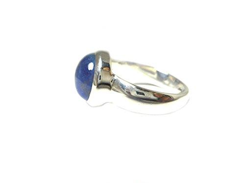 Bague Ovale Argent Sterling 925Tanzanite-Taille n-Boîte Cadeau-(tzr2010161)