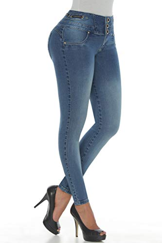 af0d241c39 Kiwi Jeans Pantalones Colombianos Cintura alta Levantacola 1407