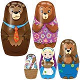 SCHYLLING ASSOCIATES INC Goldilocks & Bears Nesting Dolls Set - 5 Fairytale Characters w/ House Box