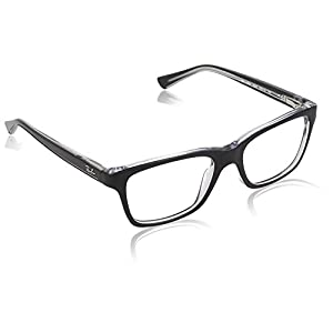 Ray Ban Junior RY1536 Eyeglasses-3529 Top Black On Transparent-46mm