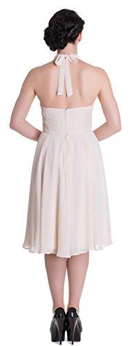 Cremefarben Kleid Damen Monroe Chiffonkleid Vintage Bunny Hell PwUqYY
