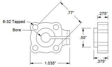 12mm Bore Clamping Hub