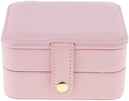 ジュエリーケース 携帯用 小物 宝石箱 大容量 PUレザー ポータブル ピンク