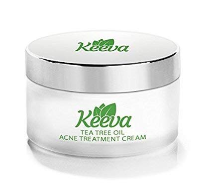 7X FASTER Acne Treatment Cream ALL Skin Types Scar Removal Spots Blackheads Cystic Acne Bacne Pimples SECRET TEA TREE OIL Formula Results In Just Days WITHOUT Drying Your Skin - Keeva Organics