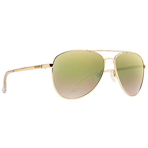 VonZipper Adults Farva Sunglasses, Gold/Green Chrome Lens One - Sunglasses Farva