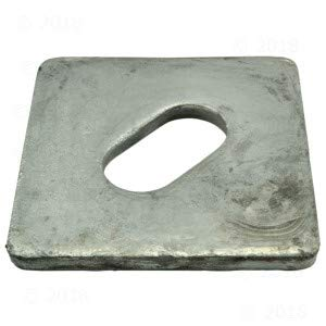 3/4 x 3 x 3 x 1/4 EQ Code Square Washer (60 Pieces) by Monster Fastener