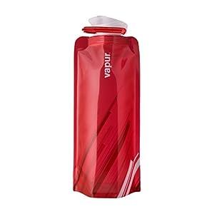 Vapur 10217 - Element 0.7L Foldable Flexible Water Bottle w/ Carabiner (Red)