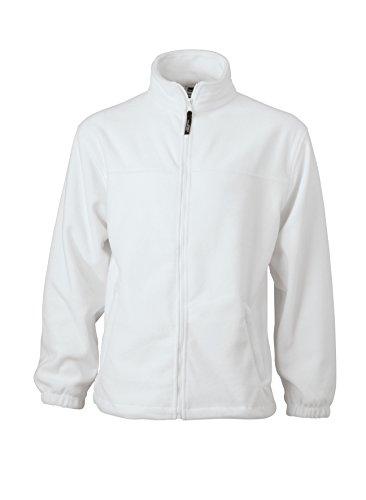White Giacca zip Uomo Full In Pesante Fleece Sportiva wAvr8xvfq0