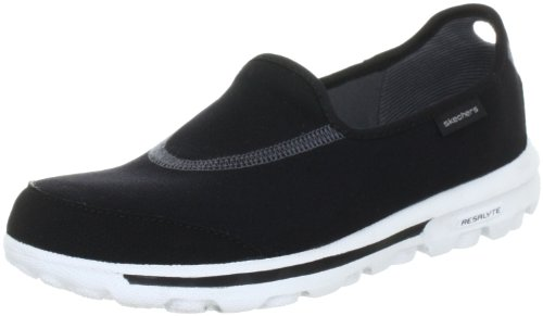 Skechers Performance Women's Go Walk Slip-On Walking Shoes, Black/White, 8 M US