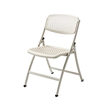 Flex One Folding Chair, White, 4-Pack
