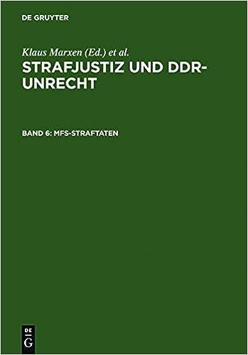 Strafjustiz und DDR-Unrecht - Dokumentation: Mfs-Straftaten Band 6