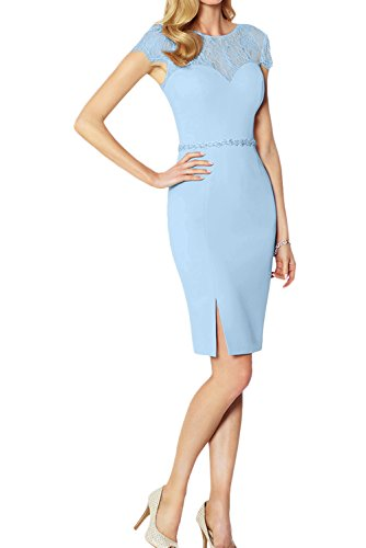 Estuche para Vestido azul Topkleider mujer claro qgTxHBUB