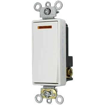 leviton illuminated switch wiring diagram leviton leviton 5638 2w 20 amp 120 volt decora plus rocker pilot light on leviton illuminated switch