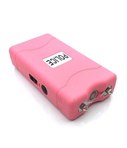 Police-60000000-Mini-Stun-Gun-Rechargeable-With-LED-Flashlight-Pink
