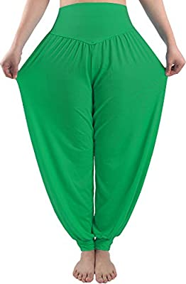 fitglam Women/'s Harem Pants Loose Casual Lounge Yoga Pants Plus Size Joggers
