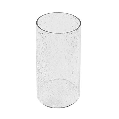 Eumyviv A00002 Straight Cylinder Clear Bubble Glass Lamp Shade