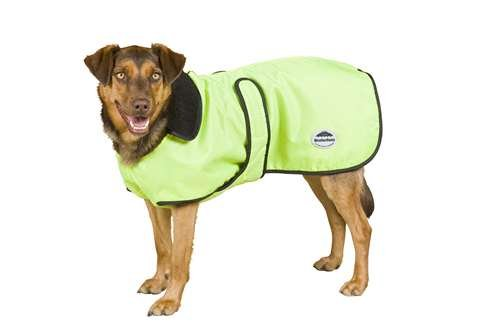 Kennel Deluxe Dog Blanket Jacket in Yellow and Black Size: 32″, My Pet Supplies