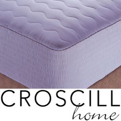 Croscill Cotton Sateen Stripe Mattress Pad, 300 Thread Count Size, Size King (C398OS