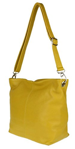 Girly HandBags Bag Leather Yellow Genuine Soft Shoulder raAqHUrP