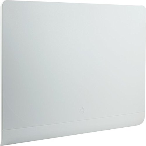 GE 33698 Pro Flat Panel HD 50 Amplified Antenna - Indoor VHF / UHF High-Definition TV Antenna - White Version - 50 Mile Range