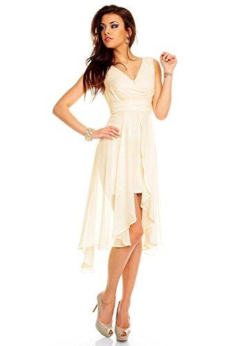 Unbekannt Unbekannt Vestito Vestito Crema Donna 8PwFUqY