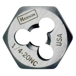 High Carbon Steel Re-threading Right Hand Hexagon Fractional Die - 5/8