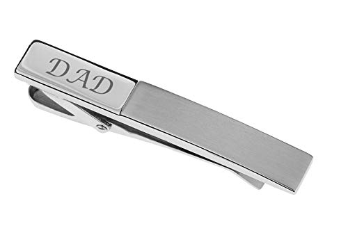Personalized Silver Stainless Steel Step Tie Clip Bar Custom Engraved FREE