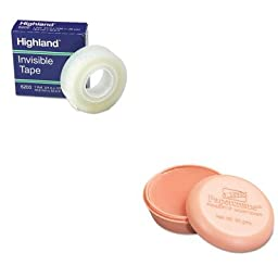 KITLEE12000MMM6200341296 - Value Kit - Lee Papercreme Fingertip Moistener (LEE12000) and Highland Invisible Permanent Mending Tape (MMM6200341296)