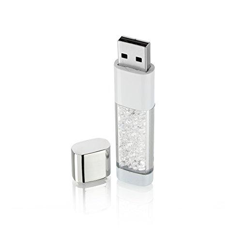 8 Gb Pearl (Blue Pearls - White Crystal 8GB USB Key USB 001 BLANC)