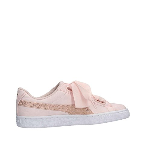 Heart Gold Chaussures Puma Rose Pearl White Flower Canvas Blue HgPw6Oq