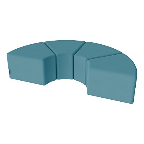 - Sprogs Modular Common Area/Library Vinyl Soft Seating Stools-SPG-1008XX-A-4PK-SF - Teal