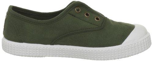 Victoria - Zapatillas de casa de tela para niños Verde (Vert (Kaki))